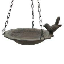 Bain d'Oiseau Mangeoire à Suspendre avec Chaîne de Jardin ø 21 cm