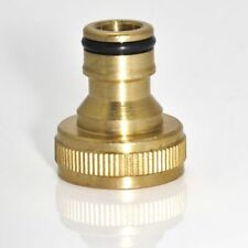 Snap Water Hose Hosepipe Fitting Threaded Tap Quick Connector Brass Adaptor