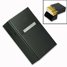 Black Aluminum Metal Cigar Cigarette Box Holder Storage Case Gift Fashion Tools