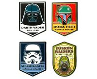Star Wars Dark Side of the Force Characters 4-Pack Enamel Pin Set (4 Piece Set)