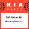 267404A410 Kia Hose assybreather 267404A410, New Genuine OEM Part
