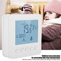 LCD Digital Thermostat Raumthermostat Fußbodenheizung Programmierbar 5A NTC