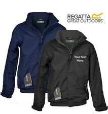 Personalised Jacket Regatta fleece lined Jacket embroidered text logo workwear