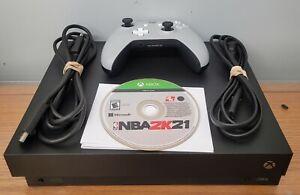 Xbox one X 1tb Console Bundle, NBA2k21 + Grey Wireless Controller + HDMI & Power