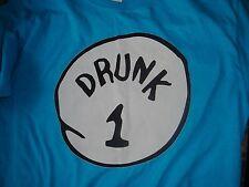 Ultra-Cool Hip Dr. Seuss Drunk #1 T-Shirt, Size Medium, Great Condition!