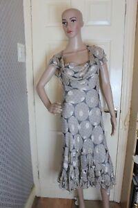 Fenn Wright Manson Size 10 Silk Dress Tea Party Races cruise wedding