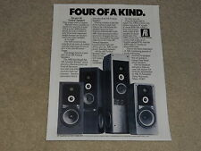 Acoustic Research AR9, AR91, AR92, AR90 Speaker Ad, 1 page, 1979 Ad, Article