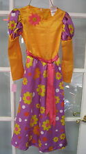 Hippie Flower Power dress size small Halloween costume outfit girls Hippy 70s