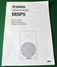Original Yamaha Monitor Speaker MSP5 Owner's Manual