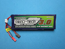 TURNIGY NANO-TECH 3000mAh 2S 6.6V 20C LiFe RECEIVER BATTERY JST FUTABA LiFePo RC