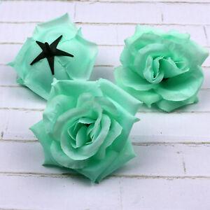 20-100PCS Fake Large Rose Floral Artificial Silk Flower Heads Wedding Home Decor