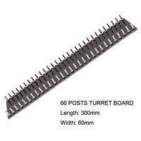 1PC TURRET BOARD 60 Post Tag Strip Board for Vintage AUDIO Guitar AMP HiFi DIY
