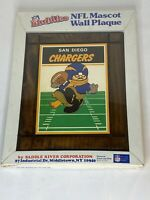 NFL San Diego Chargers Huddles Mascot Wall Plaque Football