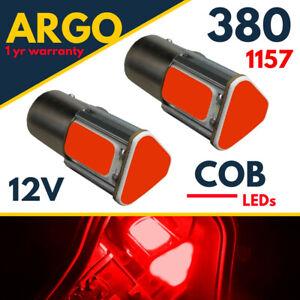 Fits Classic Mini Cob Brake light Rear Led Stop Tail Light Bright Red Bulbs 12v