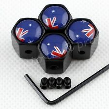 Auto Wheels Tyre Tire Valve Stem Air Dust Cap Cover AU Australia Flag Anti theft