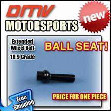 Black Ball Longer Extended Wheel Bolts Lugs | VW | 14x1.5 | 50MM Thread