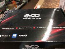 """EVOO 11.6"""" ULTRA THIN LAPTOP 32GB STORAGE, 2GB RAM, MINI HDMI (box Not Perfect)"""