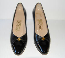 Vintage Salvatore Ferragamo Women's Black Leather Shoes Made in Italy Size 9Aaaa