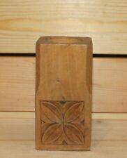 Vintage hand carving floral wood pen/pencil holder