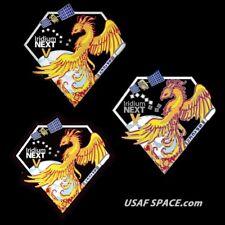 AUTHENTIC Iridium NEXT Launch-5 - PATCH PIN & STICKER SET - SPACEX FALCON 9 USAF