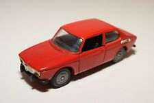 N TEKNO HOLLAND SAAB 99 RED NEAR MINT CONDITION RARE BLACK BUMPERS