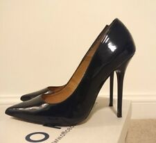 Office Pointed Black Patent Womens Party Stilettos Size 5