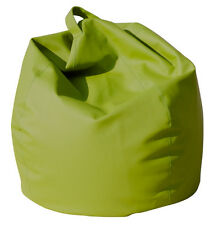 POLTRONA SACCO POUF POUFF PUFF BEANBAGS IN ECOPELLE VERDE - SENZA IMBOTTITURA