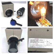 OLYMPUS BH2 BH-2 Microscope Lamp Housing 12V 100W HaL-L w/ blue filter Free Ship