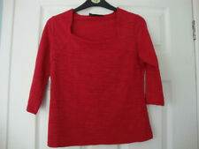 Alex & Co red textured top size 10