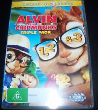 Alvin & The Chipmunks Triple Pack 3 DVD (Australia Region 4) DVD – Like New