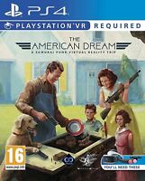 * Playstation 4 NEW SEALED VR Game * THE AMERICAN DREAM * PS4