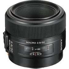 Sony 50mm f/2.8 Macro Prime Lens (Black) For Alpha & Minolta DSLRs!! BRAND NEW!!