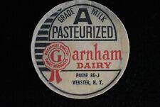 Webster,New York-Garnham Dairy-Milk Bottle Cap bs88