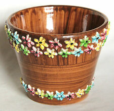 Vintage Iced Gem Style Italian Pot or Planter