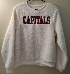 NEW RARE NHL Washington Capitals Hockey Womens Small S 4/6 Sherpa Style Sweater
