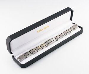 Stainless Steel Link Bracelet w/ Gorgeous Diamond Plaque TDW = 1 ct SI-1, G-H