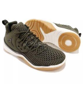 Nike Jordan DNA LX Flyknit Men's Athletic Shoes AO2649-301 Olive Green / SIZE 8