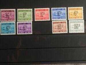 SCOTT #J8-14 & J16-17 1971-76 GUERNSEY POSTAGE DUE STAMPS MNH