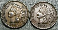 1905 + 1907 Indian Head Cent Penny --- NICE LOT --- #V549BBB