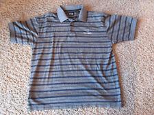 PING CoCimarron Golf Resort logo Gray blue polo shirt- Mercerized Cotton, Medium