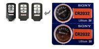 (2) Battery for Honda Accord/Civic/Odyssey smart remote key fob CR2032