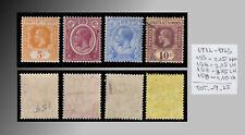 1912-1923 STRAITS SETTLEMENTS KING GEORGE V MINT & USED LOT SCT.153 156 157 158