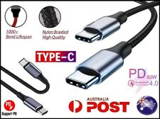 USB Type C to USB-C Cable QC4.0 60W PD Quick Fast Charging Cable Black (2M)