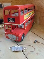 Reproduction Large Metal Tri-ang Bus radiator & Lights. Triang double decker