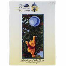"Disney Dreams Collection Latch Hook Kit ~ Pooh & Balloon ~ 17x35"" MCG Textiles"
