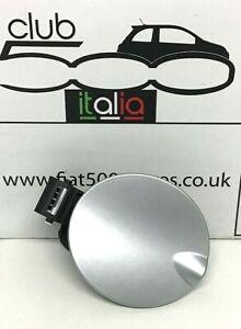 Fiat 500 Fuel Flap in Silver