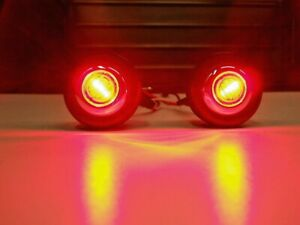 1947 & Later Chevy Pickup Truck Bed Roll Lights Red LED Brake Turn Tail 49 48 54