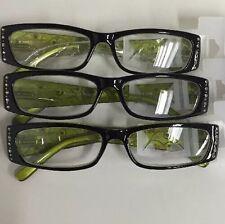 3 in Lot Foster Grant E-Z Reader Reading Glasses Maxine Green +2.00 New