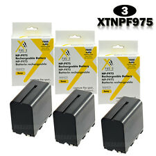 Three (3) Replacement Batteries For SONY NP-F950 NP-F960 NP-F970 NP-F975