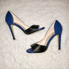 Signature Blue and Black Heels, Sz 7